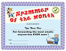 Spammer of the month certificate